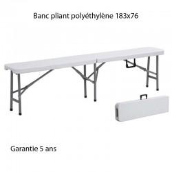 Banc pliant polyéthylène pour table XL180 183x76 VENDU PAR LOT DE 10  BANCS
