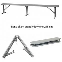 Banc pliant en polyéthylène 245 Dimension : 245 x 29,4 cm