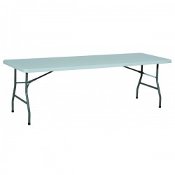 Table Rectangulaire polyéthylène pliante 222 x 76 cm
