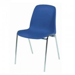 Chaise coque plastique Empilable Accrochable non feu M4.  Piètement 18mm