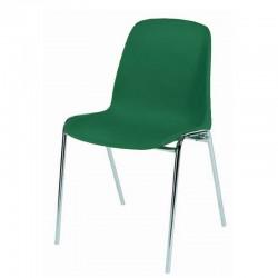 Chaise coque plastique Empilable et Accrochable non feu M2. Piètement 18mm