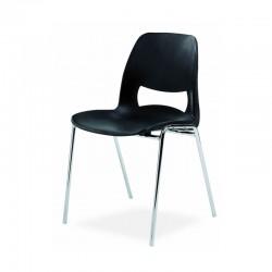 Chaise coque Stella plastique Empilable Accrochable non feu M2