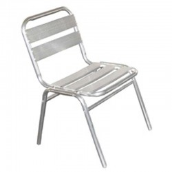 Chaise aluminium empilable