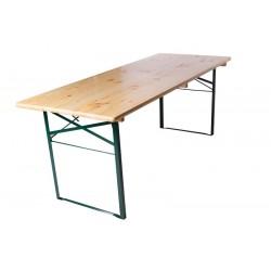 Table de brasserie 200x80cm piétement cornière