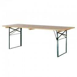 Table de brasserie 200x70cm piétement cornière