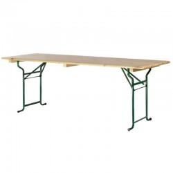 Tables brasserie 200x80cm piétement tube