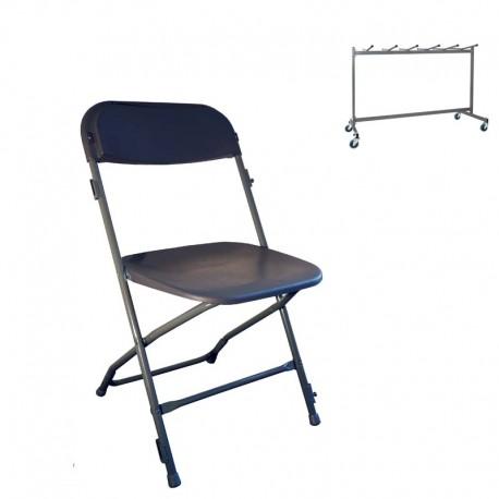 48 chaises accrochables M2+ Chariot de stockage (capacité de 48 chaises)
