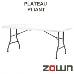 Table rectangulaire plateau pliante en polyéthylène dim 183x76