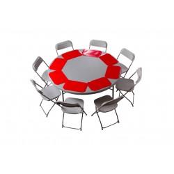 Pack 1 Table polyethylène diam 152cm + 8 chaises polypropylènes