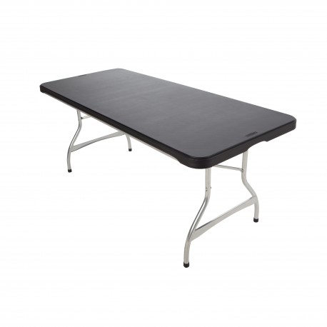 Table pliante 183x76cm empilable plateau noir