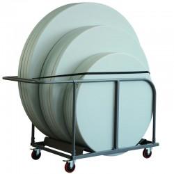 Chariot de transport pour tables rondes Capacité de 15 tables diam 120 et 150 - 12 tables diam 180