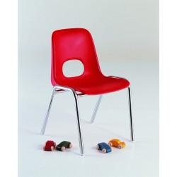 Chaise Bologne enfant 30 cm pieds chromés Non Assemblable M2