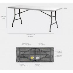 Lot de 20 tables en polyéthylènes 183x76 cm de Qualité PRO