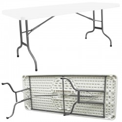 Table pliante polyéthylène 183x76x74cm haut de gamme Raccordable